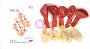 BALONY 10 SZT KPL ROSE GOLD